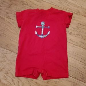 Kelly's Kids Patchwork Anchor Romper